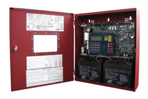 An open view of the Fire-Lite Alarms MS-9200UDLS control panel